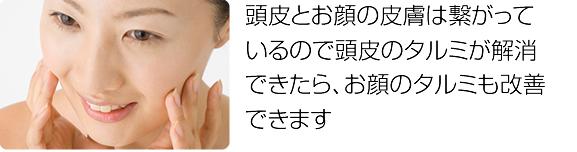 お顔のむくみ、タルミ改善